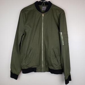 ASOS Mens bomber jacket SZ XL olive/black